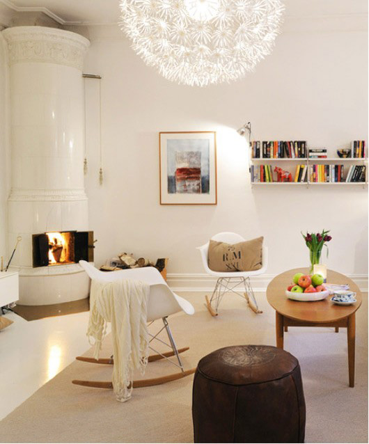 Salones con chimeneas estilo escandinavo for Salones modernos estilo nordico