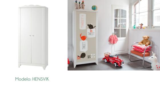 Personalizar muebles de ikea estilo escandinavo Vinilos ikea infantiles