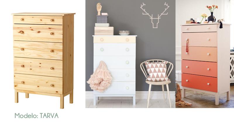 Personalizar muebles de ikea estilo escandinavo - Transformar muebles ikea ...