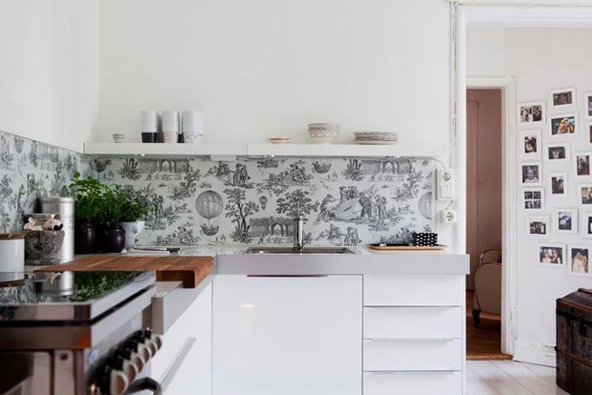 Cocinas estilo n rdico estilo escandinavo for Papel adhesivo para muebles ikea