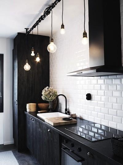 cocinas en blanco y negro | Estilo Escandinavo
