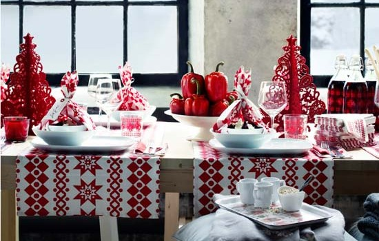 Decorar mesa de navidad estilo escandinavo for Decoracion navidena ikea