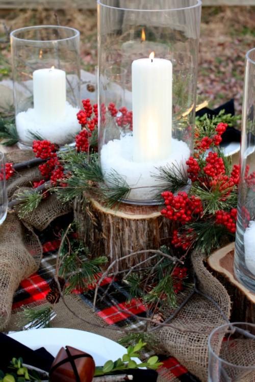 Centro de mesa navidad15 estilo escandinavo for Centro mesa navidad