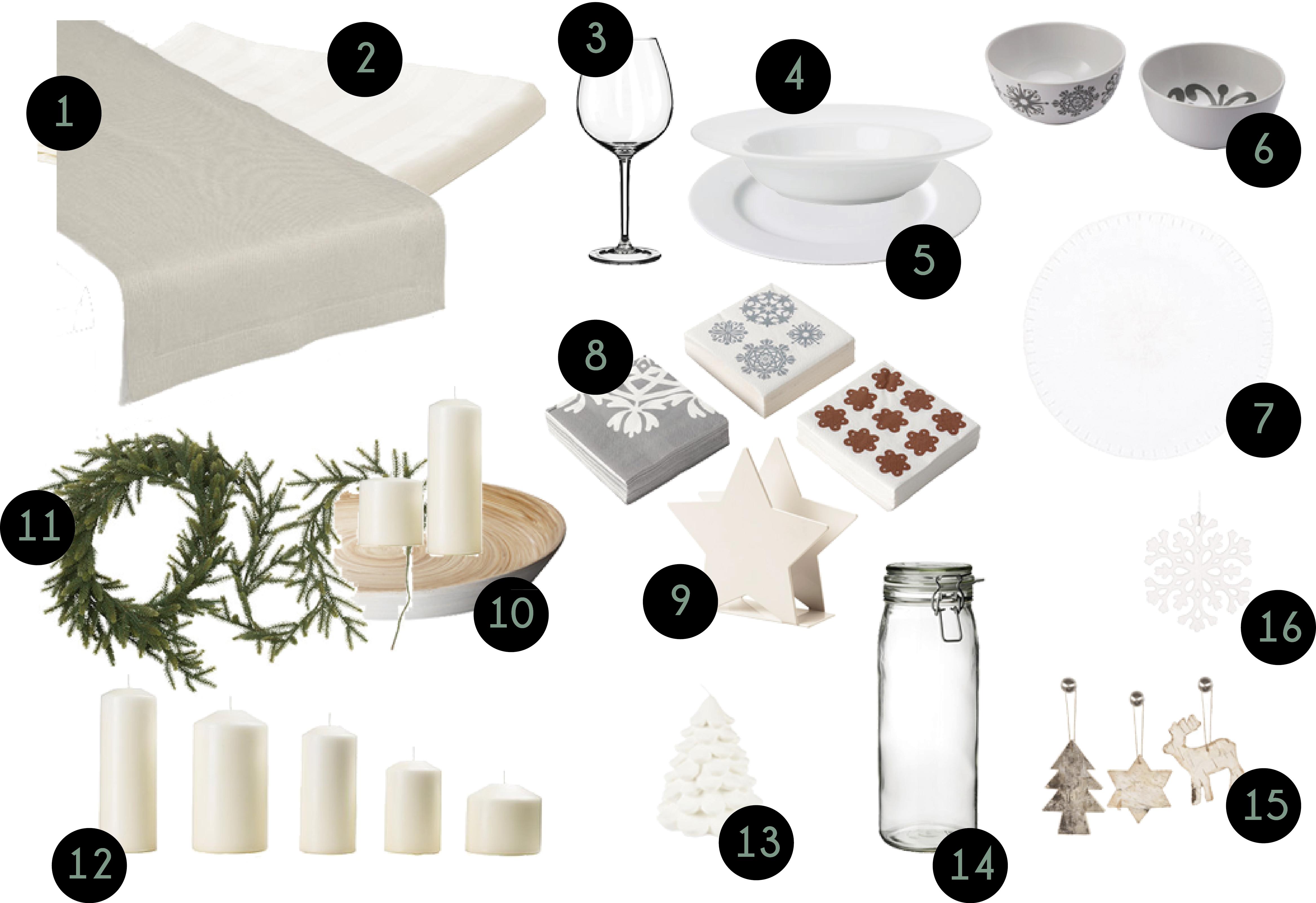 Mesas de navidad en blanco estilo escandinavo - Ikea mesa blanca ...