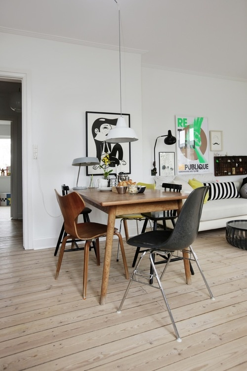 Mesas de comedor en madera estilo escandinavo for Mesa comedor estilo nordico