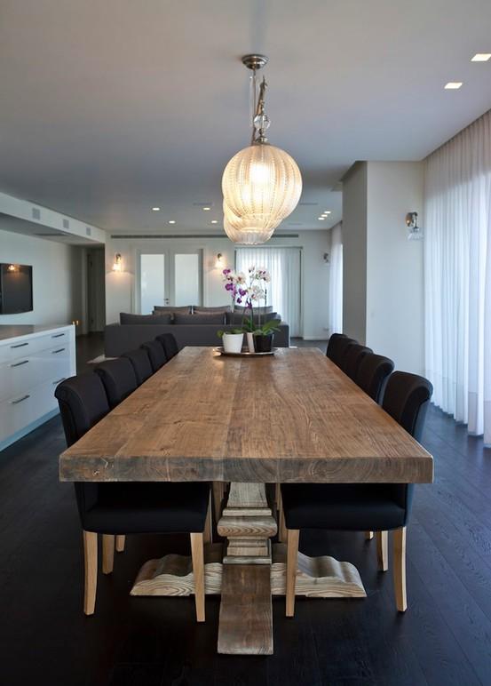 Mesas de comedor en madera estilo escandinavo for Modelos de mesas de comedor de madera