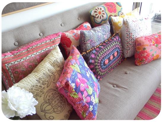 Cojines para el sof estilo escandinavo - Cojines para el sofa ...