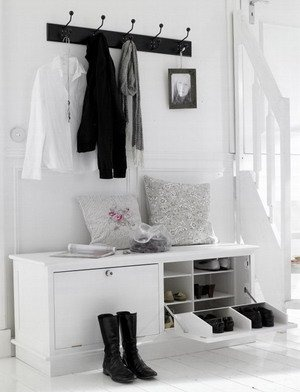 Recibidores estilo n rdico estilo escandinavo - Ideas para recibidores ...