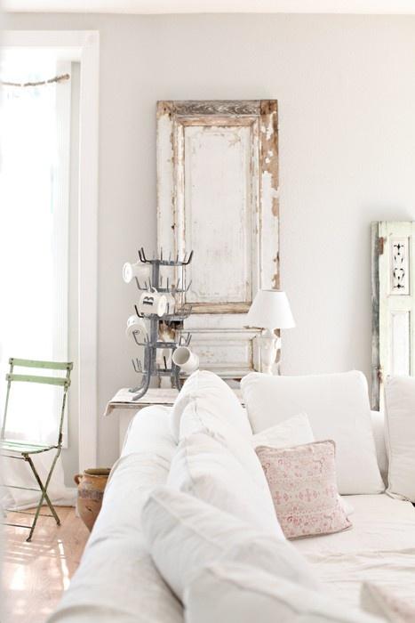 Reciclar puertas antiguas 04 estilo escandinavo - Puertas viejas de madera ...