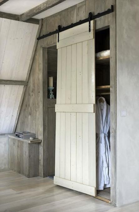 Decorar con puertas viejas de madera estilo escandinavo - Puertas viejas de madera ...