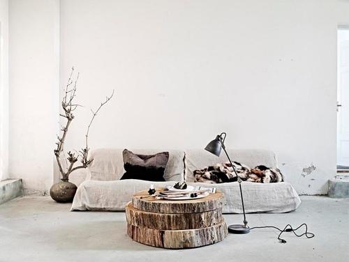 Decorar con troncos de madera Estilo Escandinavo