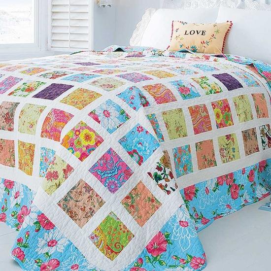 Colchas de patchwork en dormitorios estilo escandinavo - Colchas de patchwork hechas a mano ...