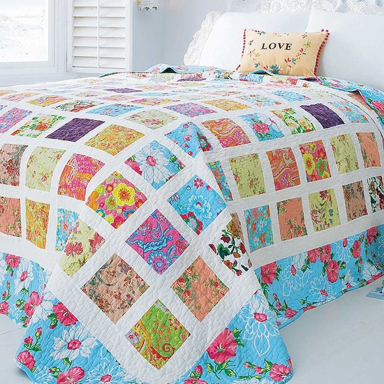 Colchas de patchwork en dormitorios estilo escandinavo - Colchas patchwork infantiles ...