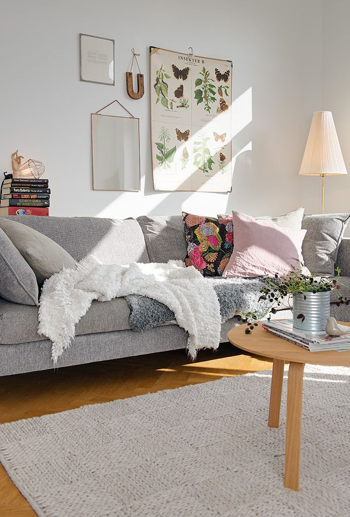 Sofa gris estilo escandinavo for Sofas nordicos