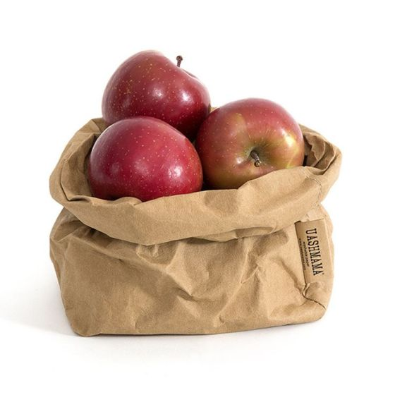 Uashmama washable paper bags that feel like leather and wash like fabric.
