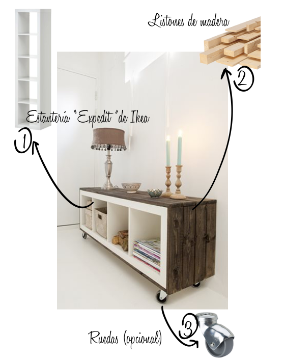 "Transformar estantería ""Expedit"" de Ikea  Estilo Escandinavo"