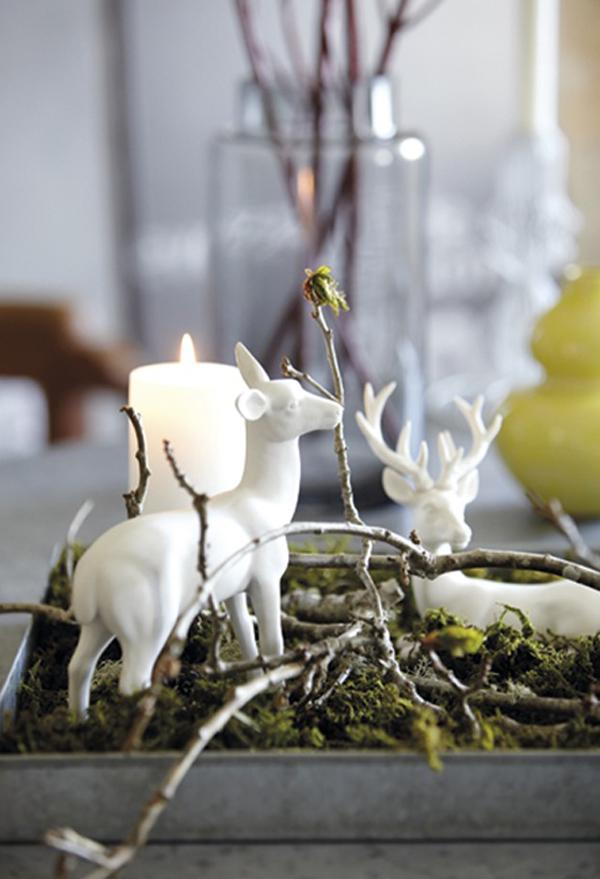 Naturales y sencillos centros de navidad estilo escandinavo - Centros navidenos de mesa ...