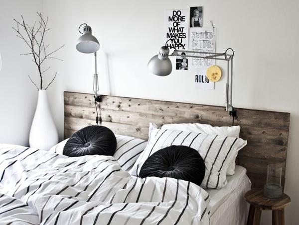 Cabeceros de madera estilo escandinavo for Dormitorio estilo nordico industrial